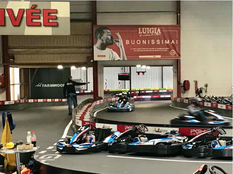 affichage grand format Karting de Payerne